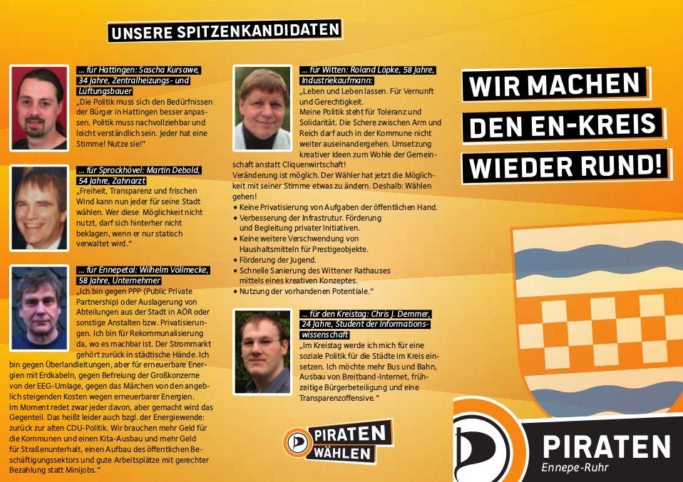 Flyer Kommunalwahl 2014 Seite 1