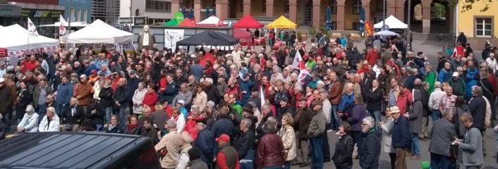 Kundgebung zum Tag der Arbeit in Witten 2018, Übersichtsfoto