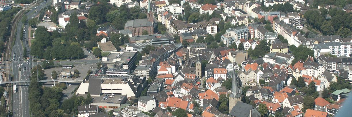 Luftbild vom Ortskern Hattingen