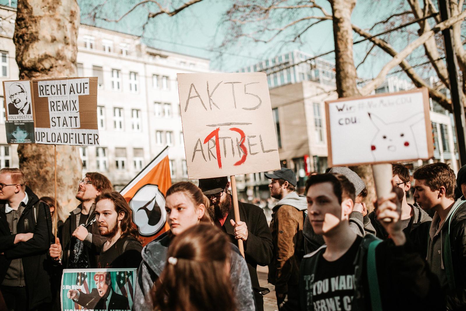 Bild von der Artikel 13-Demo in Köln am 16.2.2019