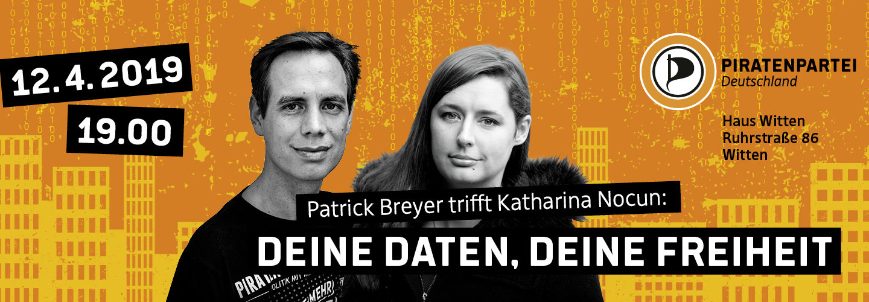 Bild mit Portraits der beiden Talk-Gäste Patrick Breyer und Katharina Nocun