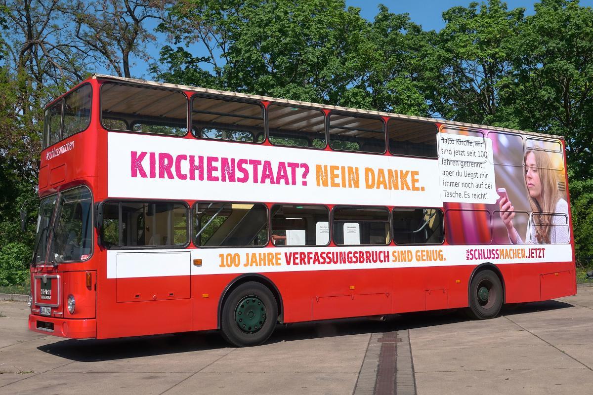 Der Bus der säkularen Buskampagne